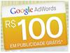 R$ 100,00 de crédito promocional em nova conta Google AdWords