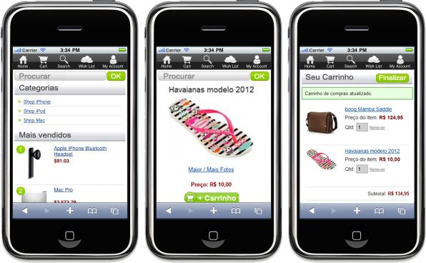 Loja Virtual para celulares, smartphones e tablets
